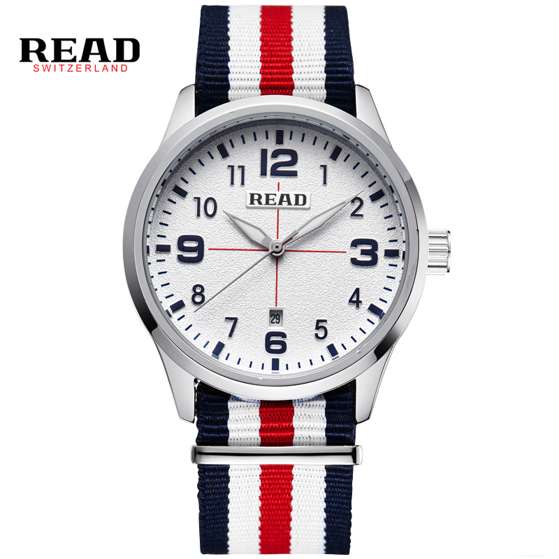 READ Fashion Sports Men Watches Men's Quartz Hour  3D Dial Date Clock Man Nylon Strap Army Military Wrist Watch New style D12 binger nylon strap watch hot sale men watch unisex hour sports military quartz wristwatch de marca fashion female male relojes