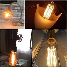 Ретро Винтаж Эдисон Лампы E27 40 Вт 220 В Лампы Накаливания Лампы Лампары Ампулы Старинные Лампы