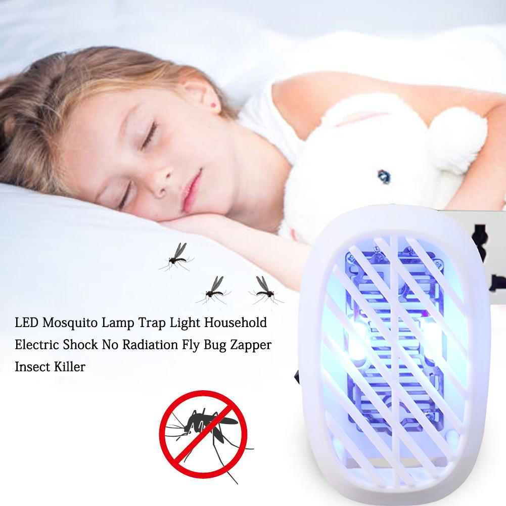 No Radiation UV LED Mosquito Lamp Trap Light Household Electric Shock Mosquito Killer Light Fly Bug Insect Killer EU US Plug