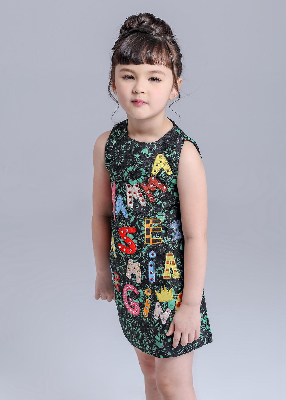 79f138c4d High End Luxury 2015 Autumn Girls Dress Brand Designer Kids Clothes ...