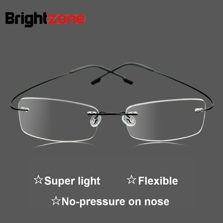8fc73b88b4 9 Frame Colors Hingless Non screw Memory Titanium Metal Flexible Arm  Eyeglasses Prescription Spectacles RX Glasses Optical Frame-in Eyewear  Frames from ...