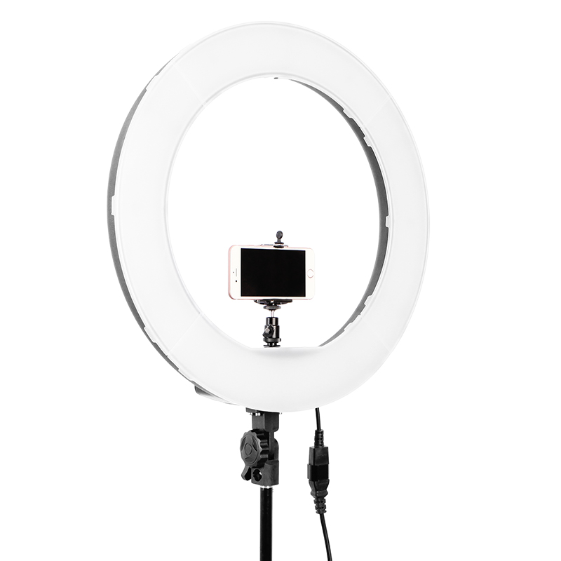 rl 18 55w led ring light eu plug 5500k dimmable camera photo  studio  phone  video photography ring