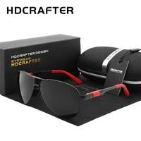 Hdcrafter 남자 브랜드 선글라스 편광 안경 uv400 파일럿 태양 안경 드라이버 여행 oculos gafas de sol
