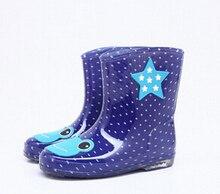 2017 горячие дети сапоги девушки парни обувь милый мультфильм дождь сапоги дети прекрасный dot дождь сапоги мальчиков нескользящей дождь сапоги мальчиков девочек