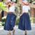 Denim Saias Longas Faldas Largas calças de Brim Saias Das Mulheres 2016 Moda Verão Maxi Saia