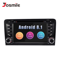 2Din Android 8.1 Car Multimedia Player AutoRadio For Audi A3 8P S3 RS3 Sportback 2003 2004 2005 2006 2007 2008 2009 2010 2011DVD