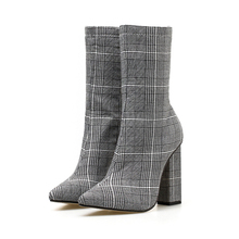 MAIERNISI Spring Autumn Boots For Women Shoes Pointed Toe High Heels Female Zippers Chelsea 35-42