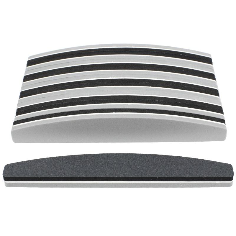 Esponja bloco de unha 180/240, cinza/preto barco esmalte gel lime um tampão de lixa ongamento fornecedor de ferramentas de manicure