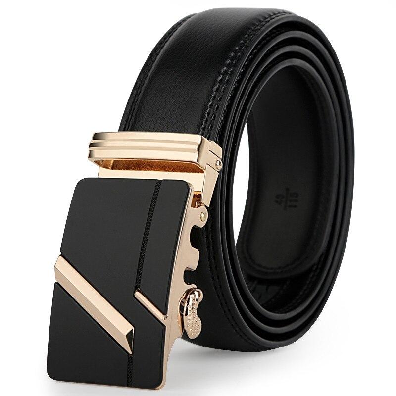 leather strap male automatic buckle belts for men authentic girdle trend men's belts ceinture Fashion designer women jean belt 1