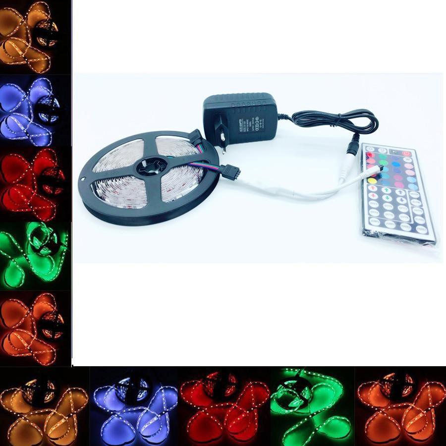 SMD RGB LED Strip Light waterproof 5050 60leds / m 220V led ribbon diode flexible ribbon ...
