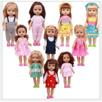 цена на 35cm Full Body Vinyl Lovely Princess Reborn Baby Doll Toys Lifelike 14inch Vinyl Princess Girl doll reborn Birthday Gifts