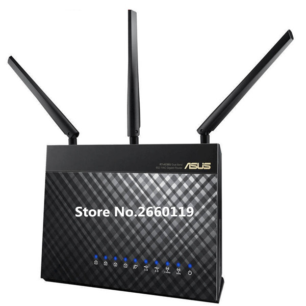 High quality For ASUS RT-AC68U AC1900 Dual-band Gigabit wireless WIFI router asus rt ac68u wireless router