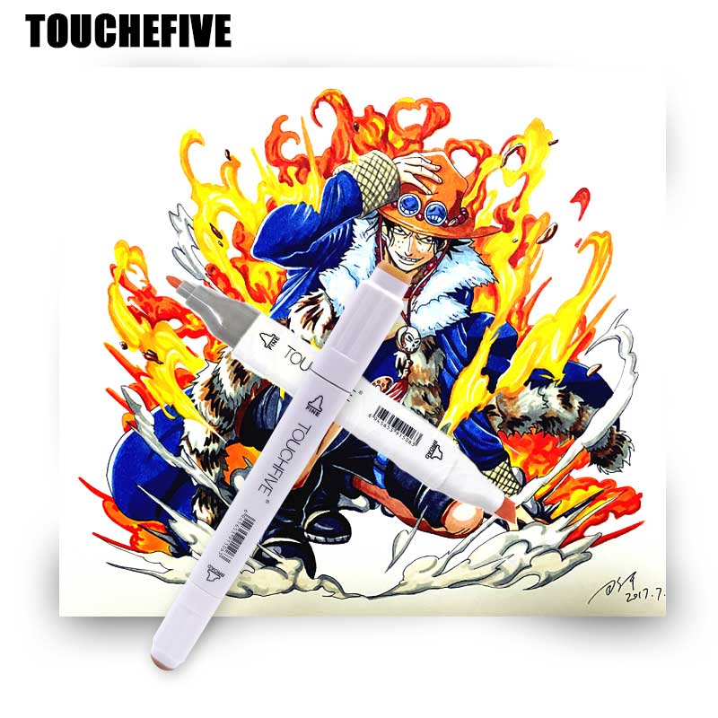TOUCHFIVE 60 colors Art marker Sketch marker pen Professional Anime Art markers Set for liner drawing paint Manga Art Supplies touchfive 168 colors pen marker set alcoholic oily based ink dual head sketch markers manga drawing pen design art supplies