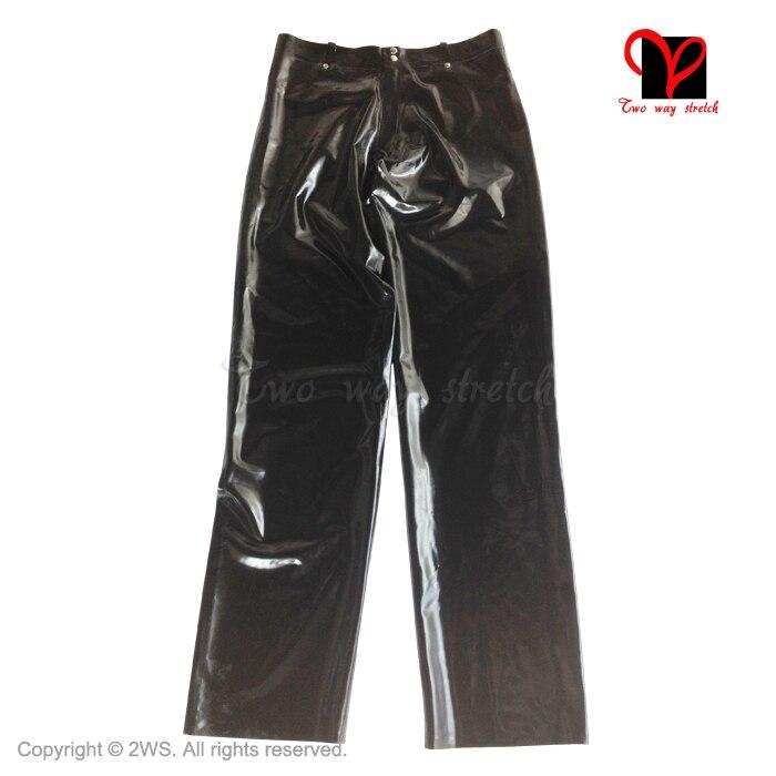 Սև լատեքս ջինսե ռետինե տաբատ Ռազմական - Կանացի հագուստ - Լուսանկար 6