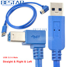(50pcs/lot) 3Ft 1M Straight & Left & Right Angle USB 3.0 A m