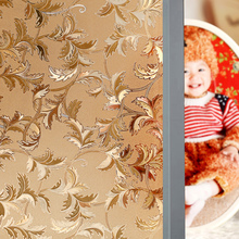 Golden leaves Electrostatic glue window stickers translucidus sunscreen household sliding door Glass window stickers decoration