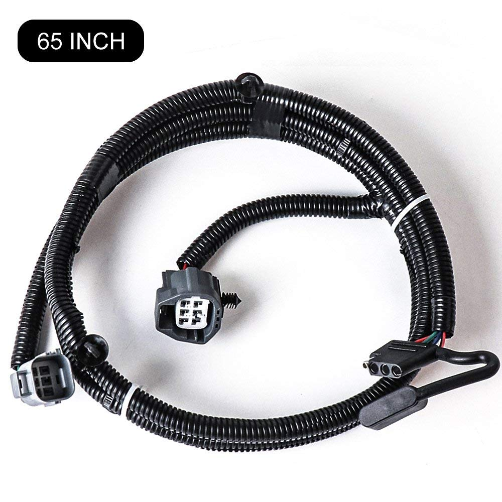 65 inch railer wiring harness for jeep wrangler jk 2 4 door 2007 2018 tow hitch wiring harness accessories 4 way flat connector [ 1000 x 1000 Pixel ]