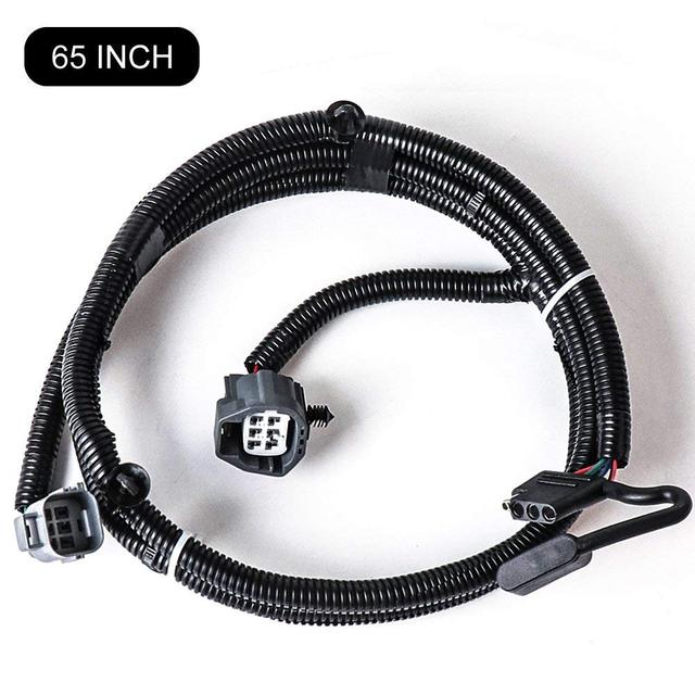 65 inch railer wiring harness for jeep wrangler jk 2/4 door 2007-2018 tow  hitch wiring harness accessories 4-way flat connector