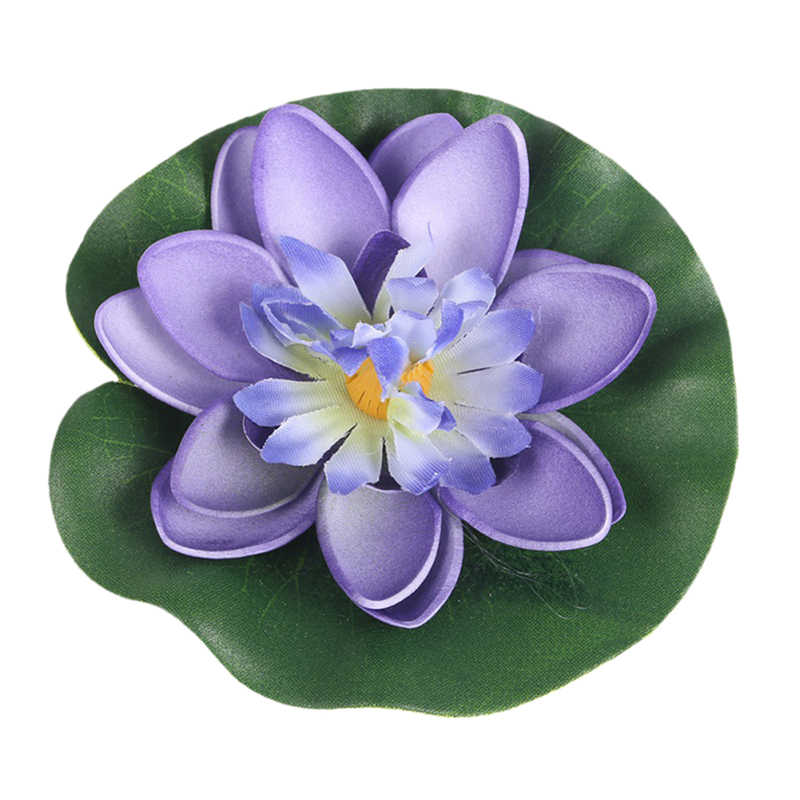 1Pcs/5Pcs Künstliche Lotus blatt Wasser Lilie Schwimm Blume Teich Tank Anlage Ornament 10cm Home Garten teich Dekoration