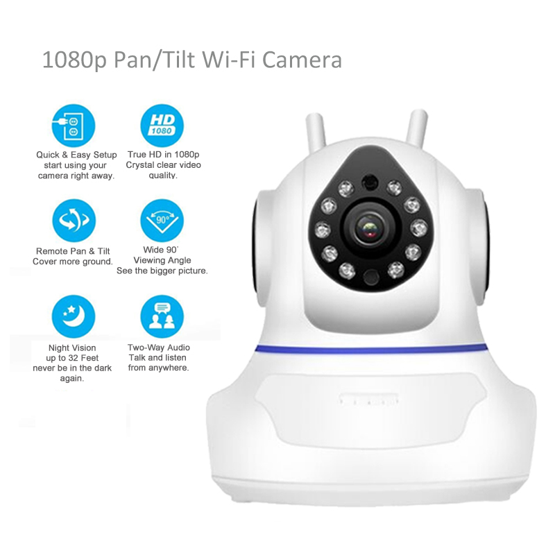 1080 p cámara IP WiFi cámara de vigilancia cámara de red inalámbrica Wifi visión nocturna CCTV Baby Monitor 1920*1080