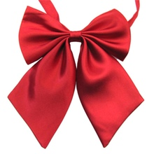 Fashion Solid Color Butterfly  Women Cravat Neckwear Adjustable Party Bow Tie YRD
