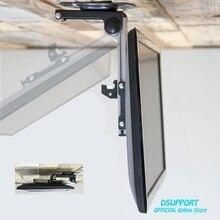 Katlanabilir araba tavan 14 37 inç ekran LED LCD monitör tutucu TV askısı askısı duvara monte raf dolabı montaj TV tutucu