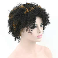 Soowee Kinky Curly Short Synthetic Hair Wigs High Temperature Fiber Party Hair Cosplay Wig Headwear Hair Accessories for Women