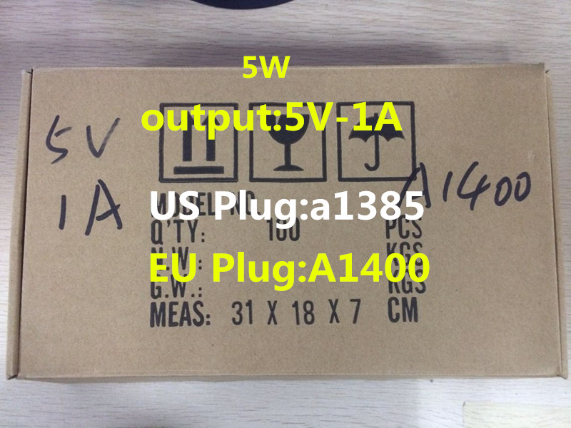 100 Stks Aaaa Kwaliteit 5 W 5 V 1a Lader A1400 A1385 Eu Us Plug Usb Ac Power Thuis Oplader Adapter Voor I 7 6 S Plus 5 5 S 5c Se Versterkende Taille En Pezen