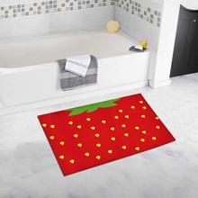 Cute Strawberry Funny Fruit Floor Mat Bathroom