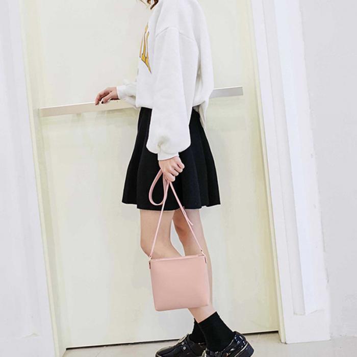 Women Small Shoulder Bag PU Leather Satchel Lady Girl Crossbody Messenger Best Sale-WT