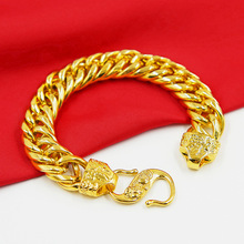 Fashion Mens Gold-plated Bracelet 24K Vietnamese Sarkin Jewelry Birthday Gift