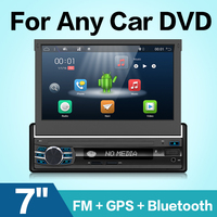 Car Radio 1 din Android 7.1 Wifi Autoradio Stereo Player Universal GPS Navigation Retractable Screen Bluetooth+Free camera usb