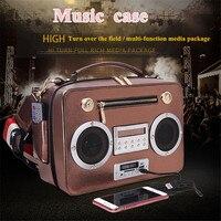 Creative Women Hand Bag Sing Radio Bag Handbag Slung Man Bag Support Bluetooth Card