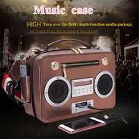 Creative Women Hand Bag Sing Radio Bag Handbag Slung Man Bag Support Bluetooth Card