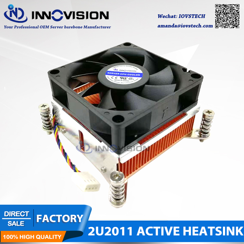 2u Square LGA2011 copper heatsink Intel Xeon E5-1600 E5-2600 E5-4600 Series cpu <font><b>cooler</b></font> radiator image