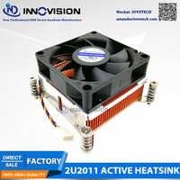 2u Square LGA2011 copper heatsink Intel Xeon E5-1600 E5-2600 E5-4600 Series cpu cooler radiator