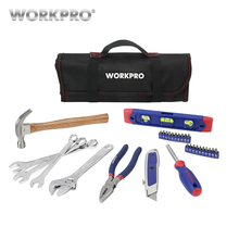 WORKPRO 29PC SAE Tool Set Household Hand Tools with Roll Bag Home Kits