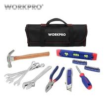 WORKPRO 29PC SAE Tool Set Household Tool Set Hand Tools with Roll Bag Home Tool Kits