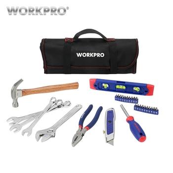 цена на WORKPRO 29PC Tool Set Household Tool Set Hand Tools with Roll Bag Home Tool Kits