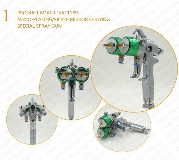 SAT1189 kaks topeltdüüsiga pihustit kroomitud hea kuumuskindlusega - Elektrilised tööriistad - Foto 6