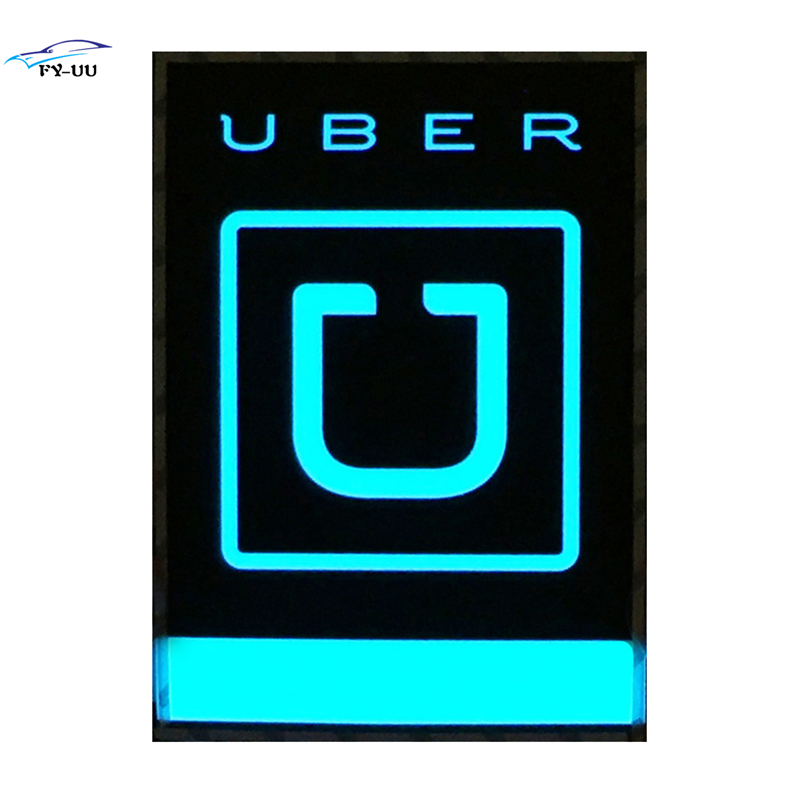 Blue UBER Light Sign Led Logo Electro Luminescent Glowing Decal for Rideshare Drivers Car Stickers UBER Lift Service uber headphone