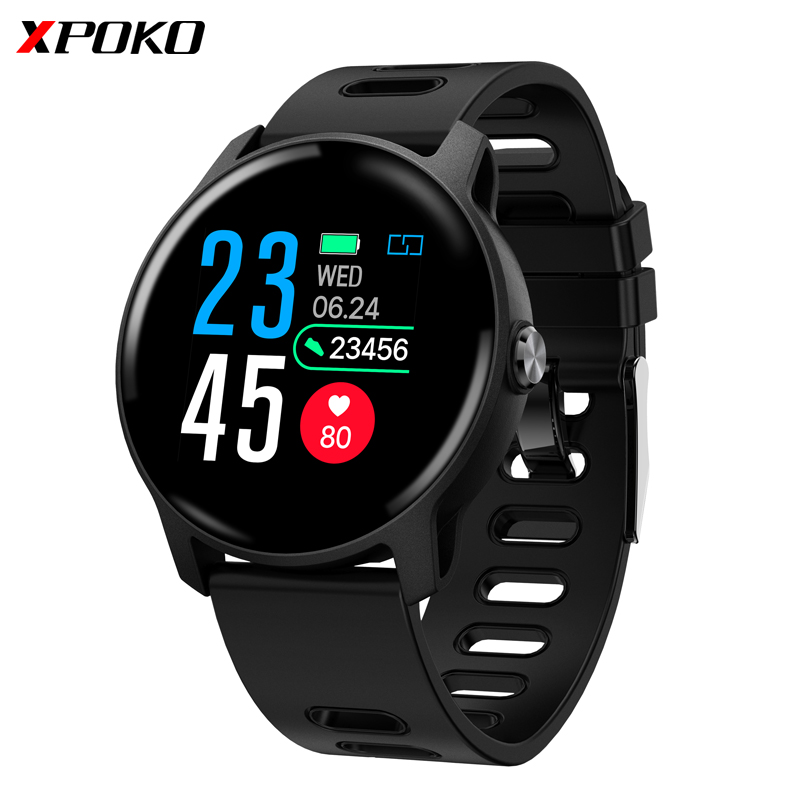 XPOKO S08 Smart Watch IP68 Waterproof Watch Smart Heart Rate Monitor Blood Pressure 1.3Inch Bluetooth Sport Smartwatch For Phone