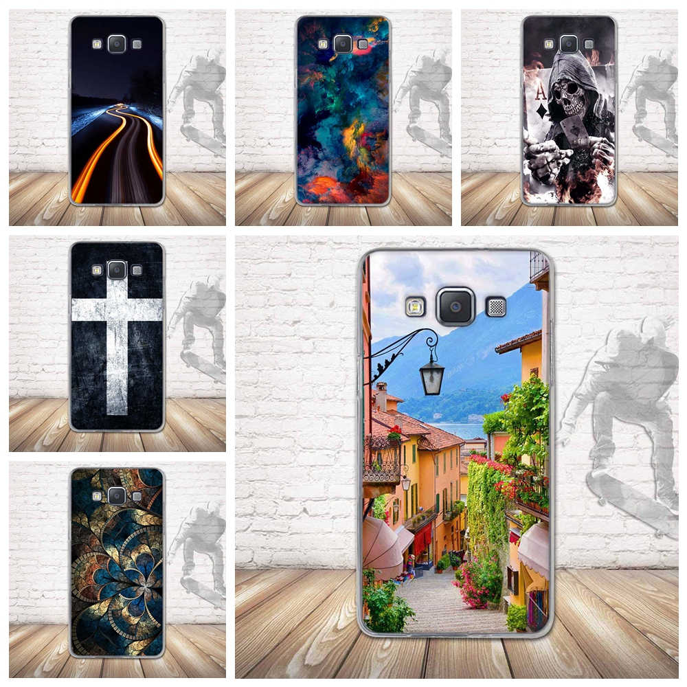 Case for Samsung Galaxy A5 A500 Phone Cases Silicone Back 3D Relief Printing Back Case Cover
