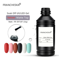 Francheska 1KG Free Sample Rubber Base Top Coat UV Gel Clear Primer Soak Off White Black Gel Nail Polish Nail Art Long Lasting