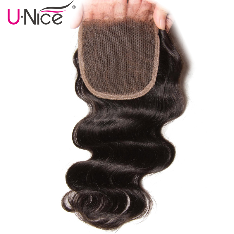 UNice Hair Icenu Series Remy Hair Brazilian Body Wave Closure Free Part Human Hair Lace Closure