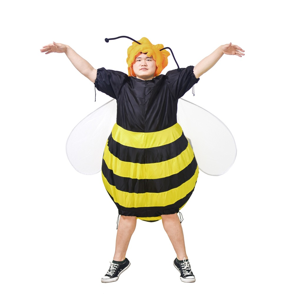 Bumble Bee Inflatable Costumes Unisex for Adults Party Carnival Cosplay Dress Blow Up Outfits Halloween Purim Suits