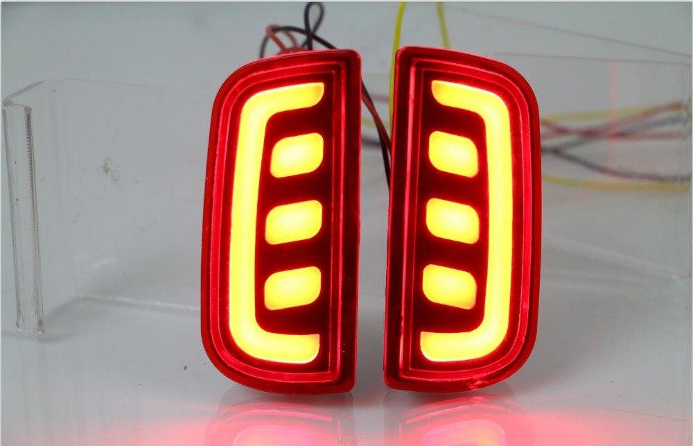 eOsuns светодиодные задние бампера света для Хонда Цивик 10-го 2016-17, вождения лампы + сигналы торможения, беспроводной переключатель