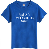 New 2014 Free Shipping Fashion Game Of Thrones VALAR MORGHULIS GOT Print Letters Sitcoms Man Men