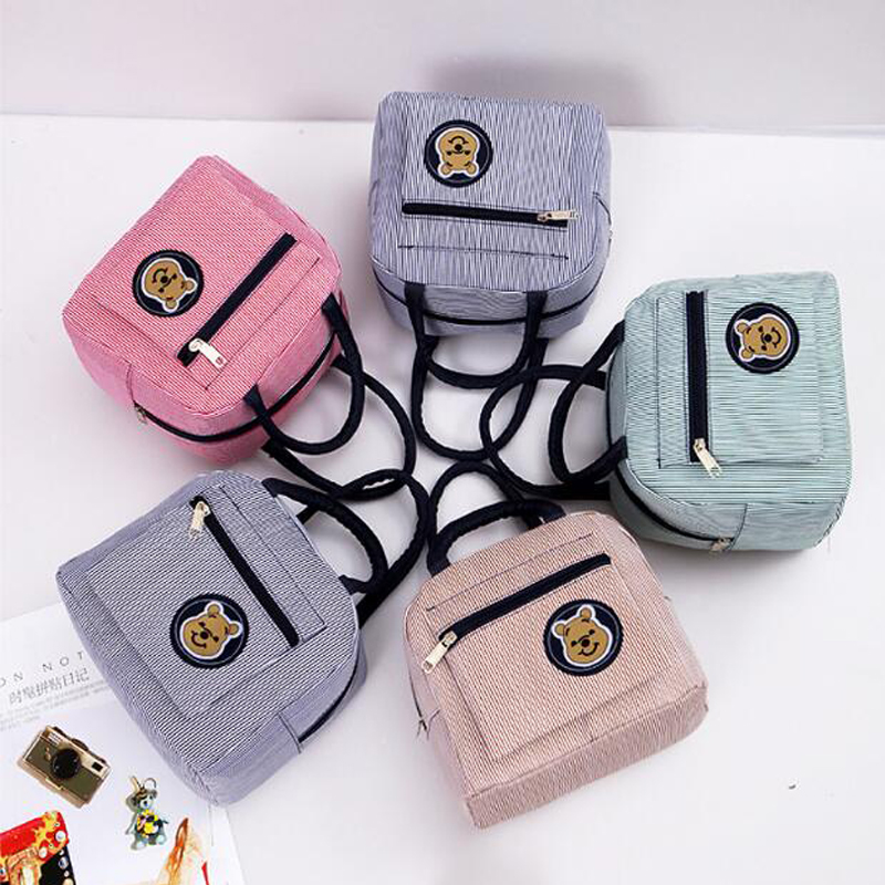 SENTCHARM 2018 Fashion Leisure Portable Insulated Canvas Food Picnic Lunch Bags For Women Kids Men Cooler Lunch Box Tote LT210