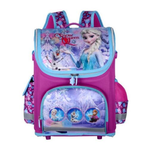 Girls Snow Queen School Bags Nylon Orthopedic Princess Elsa Backpacks for Primary Students Children Kids Sofia Schoolbags